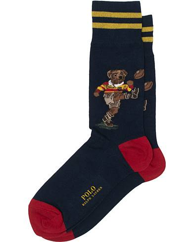 Polo Ralph Lauren Rugby Playing Bear Sock Navy