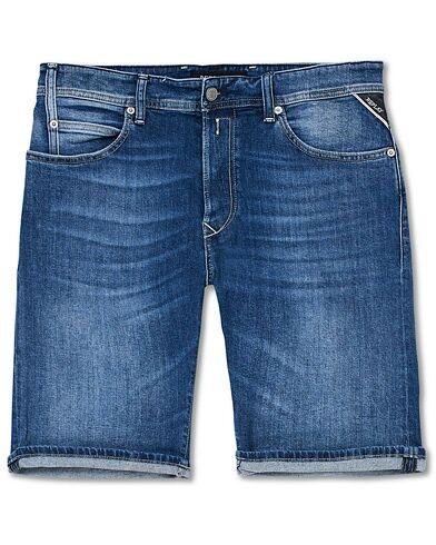 Replay RBJ901 Super Stretch Jeans Shorts Dark Blue