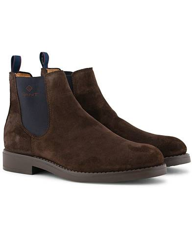 GANT Oscar Chelsea Boot Dark Brown Suede
