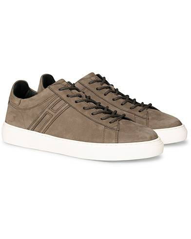 Hogan Tonal Low Sneaker Taupe Nubuck