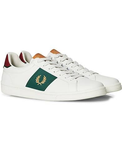 Fred Perry B721 Leather Sneaker Porcelain/Gold