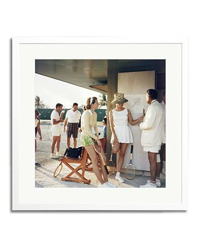 Sonic Editions Framed Slim Aarons Tennis In The Bahamas