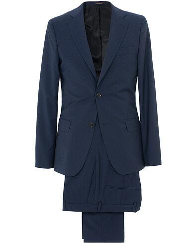 Oscar Jacobson Edmund Wool Suit Mid Blue