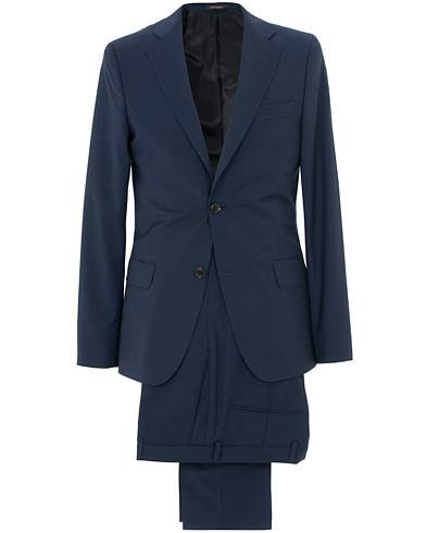 Oscar Jacobson Edmund Wool Suit Mid Blue