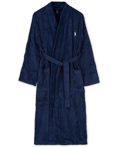 Polo Ralph Lauren Light Terry Kimono Robe Cruise Navy