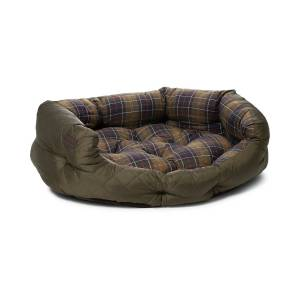 Barbour Heritage Quilted Dog Bed 35' Olive