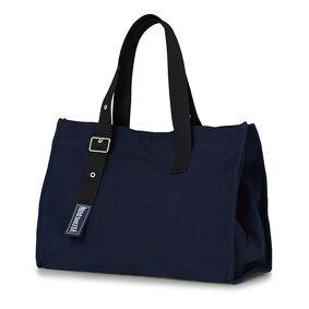 Vilebrequin Foldable Canvas Bag Bleu Marine