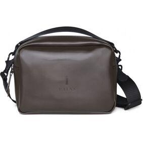 Rains Box Bag - Shiny BrownBrun
