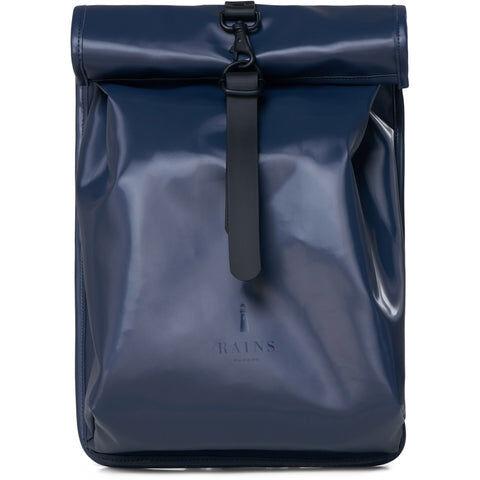 Rains Roll Top Mini - Shiny BlueBlå