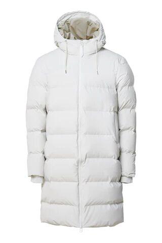 Rains Long Puffer Jacket - Off WhiteHvit
