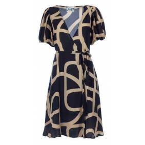 Just Female Leyla wrap dress - Just a sign aop