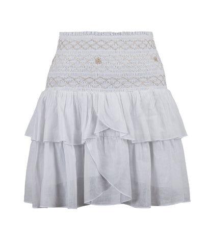 Neo Noir Carin Smock Skirt - WhiteHvit