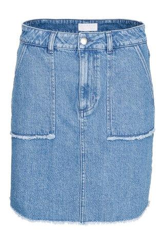 Creative Jeans Skirt - Dusk Blue