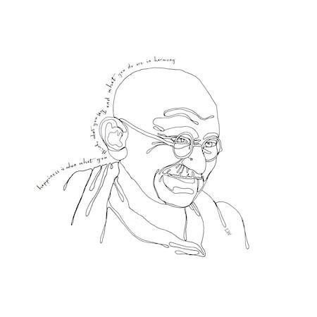 Love Warriors Poster LW Icons Mahatma Ghandi