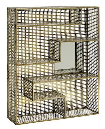 Nordal Gold mirror vegghylle