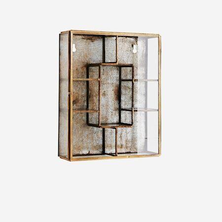 Madam Stoltz vegghylle 21x6x26 cm - Messing