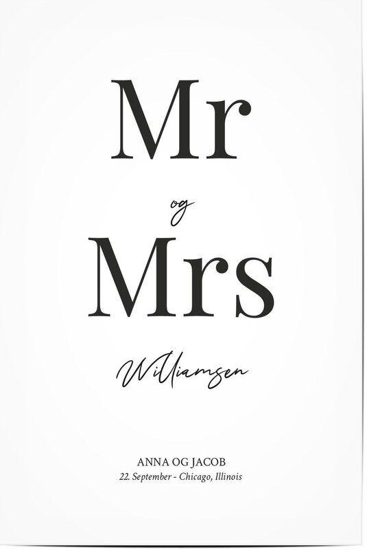 Optimalprint Personlige temaplakater, herr, fru, typographic, black and white, illustrasjoner, minimalistisk, moderne, Optimalprint