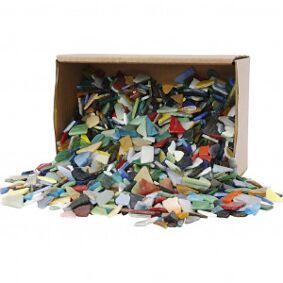 Diverse Mosaikk, str. 8-20 mm, tykkelse 2-3 mm, 2 kg, ass. Farger
