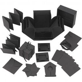 Diverse Eksplosjonseske, str. 7x7x7,5+12x12x12 cm, g1 stk., svart