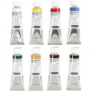 Schmincke AKADEMIE® Akrylmaling, 8x60 ml