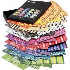 Color Bar rivepapir, A4 210x297 mm, 100 g, 160 ass. ark, ass. Farger