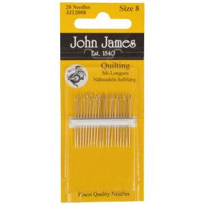 John James Quiltenåle Korte Str. 8 - 20 stk