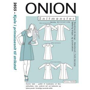 ONION Snittmønster 2055 Kjole  med Prinsessesnitt Str. XS-XL