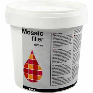 Diverse Mosaikkfiller, 1000 ml, hvit