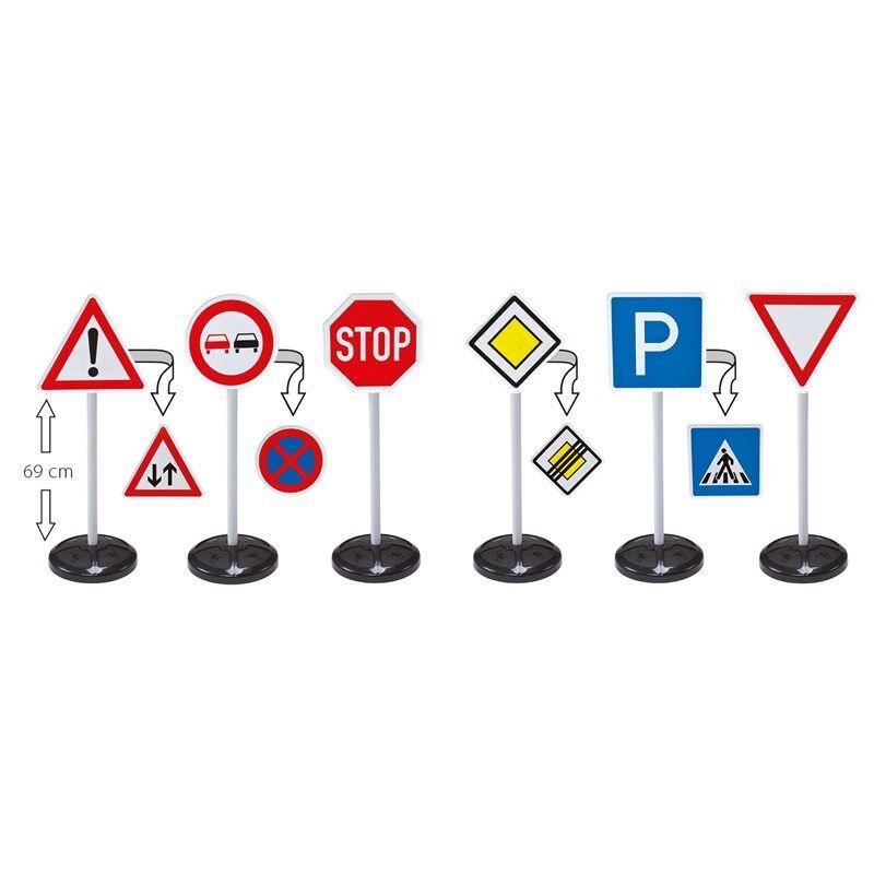 BIG BIG Bobby Car, Traffic Signs Mega Set 12 mnd - 4 år