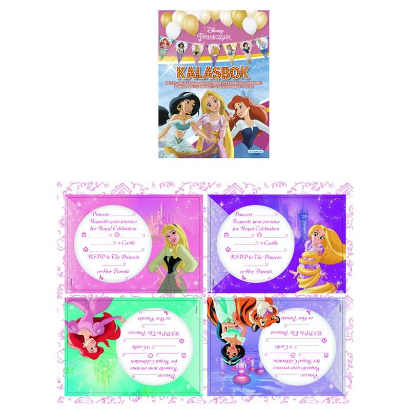 Disney Princess Disney Prinsesser Bursdagsbok med tilbehør 3 - 9 years