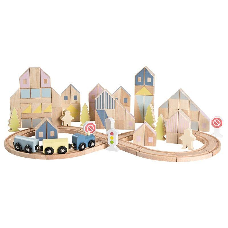 STOY 105Pcs City Blocks With Train Set 3+ years