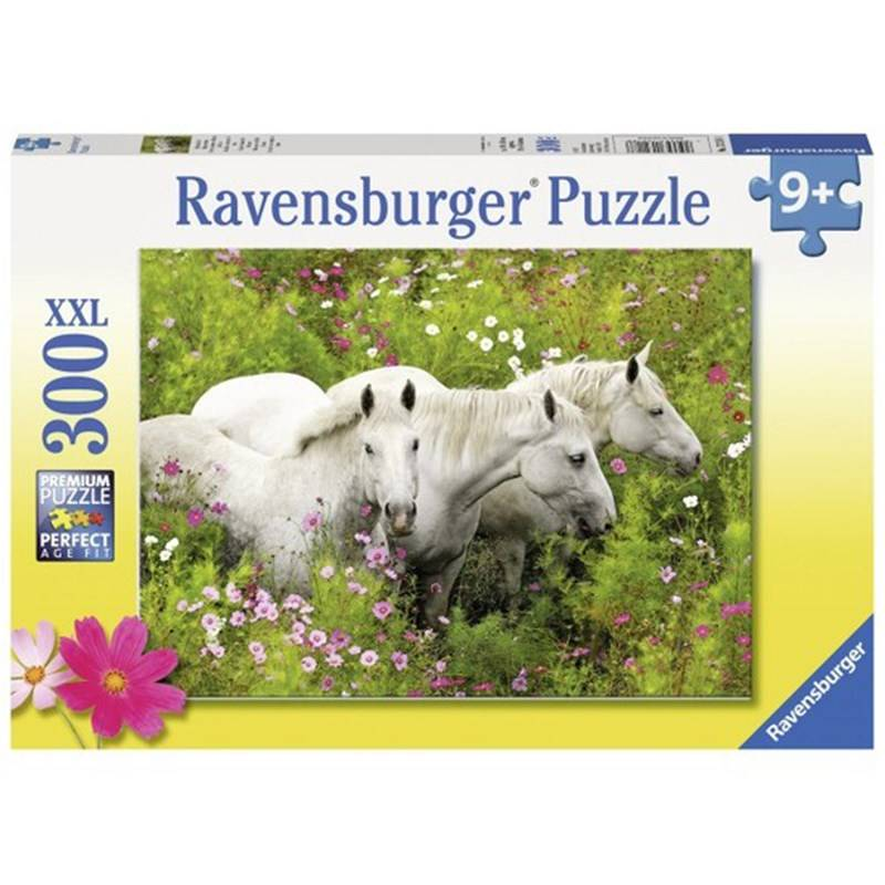 Ravensburger Puslespill Horses in a field of flowers 300 brikker 9 - 12 years