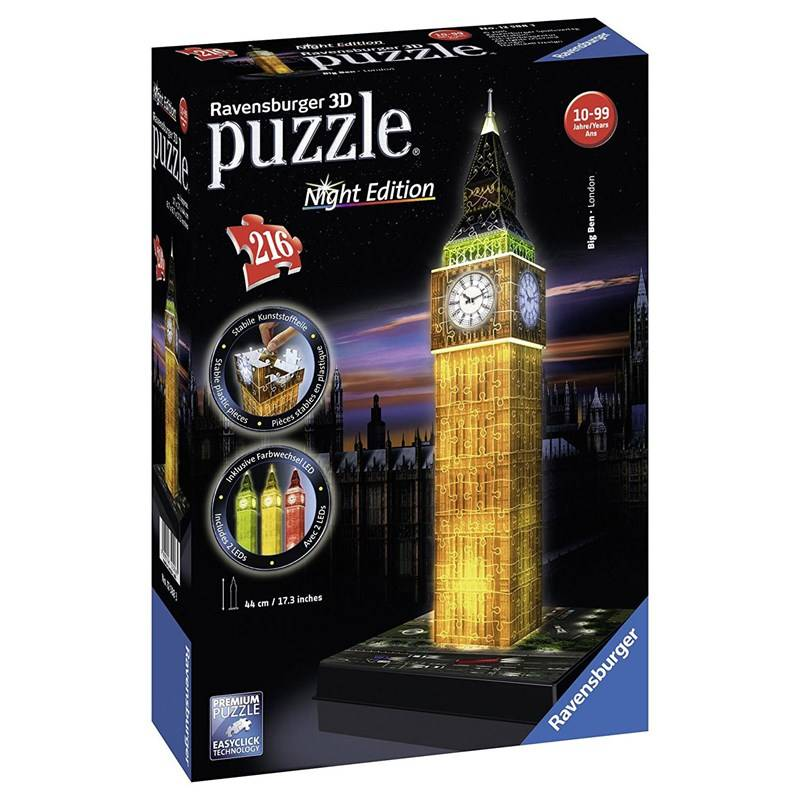 Ravensburger 3D Puslespill Big Ben London 216 biter 12 - 18 years