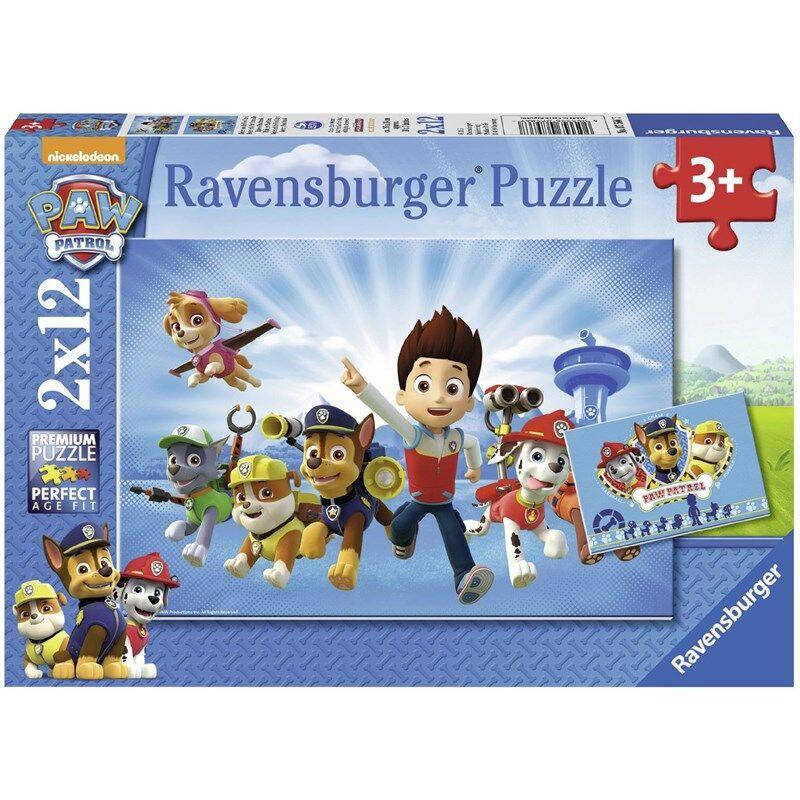 Ravensburger Puslespill, Paw Patrol 2 x 12 brikker 3 - 9 years