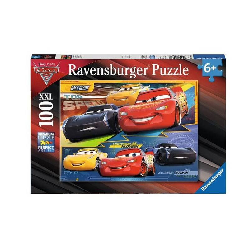Ravensburger Puslespill, Disney Cars 3, 100 biler One Size