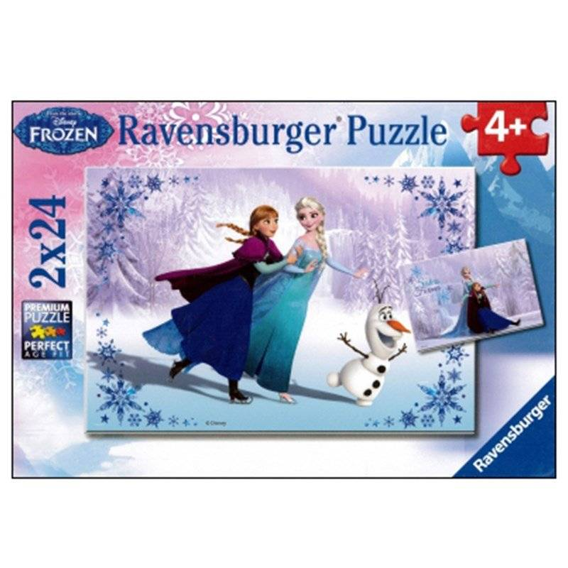 Ravensburger Pussel, Frozen Sisters Always, 2 x 24 bitar One Size
