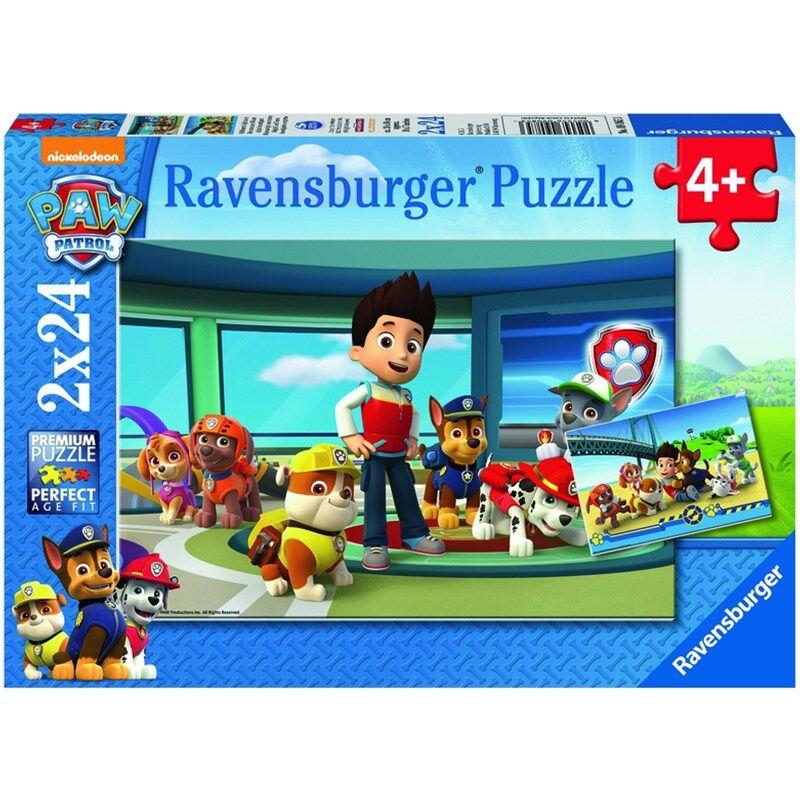 Ravensburger Puslespill, Paw Patrol, 2x24 brikker 4 - 8 years