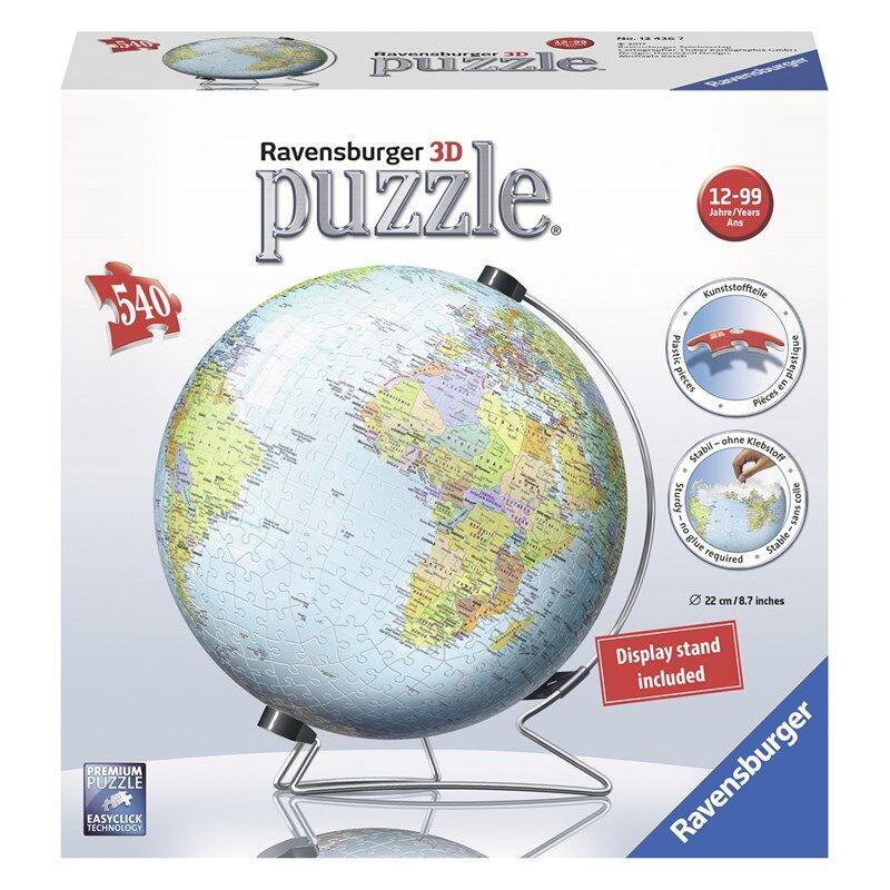 Ravensburger World Globe 540 biter 12+ years