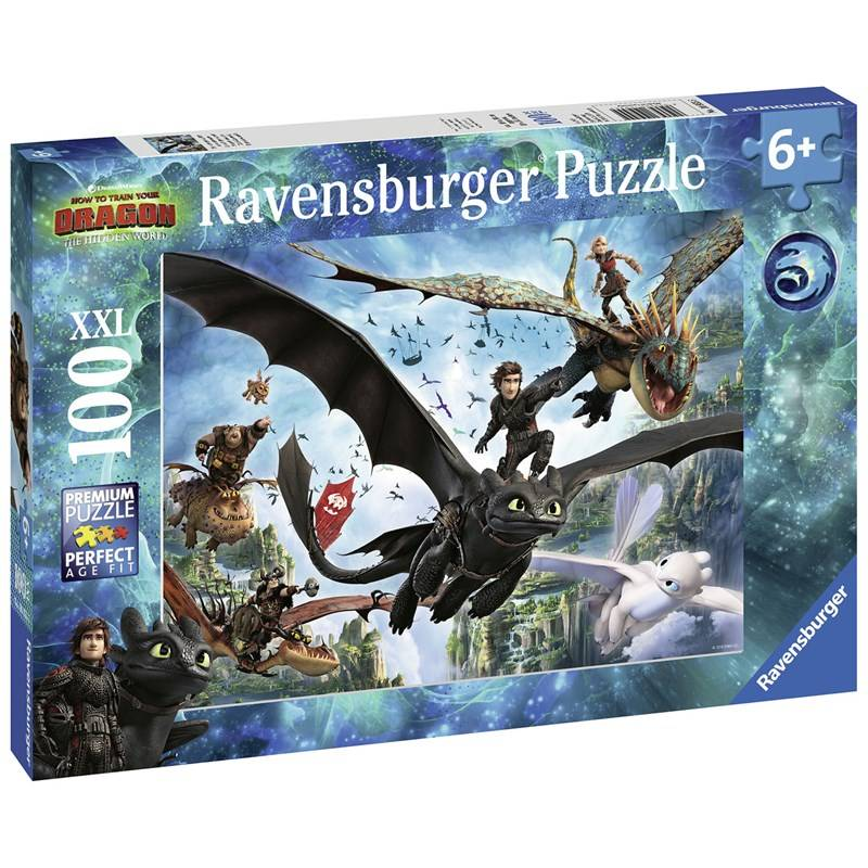 Ravensburger Puzzle, Dragons: The hidden world, 100 pieces 6+ years