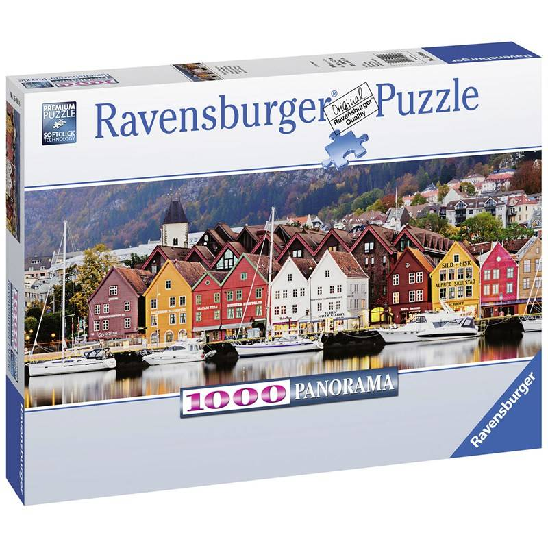 Ravensburger Puzzle, Port in Norway, 1000 pieces 14+ years