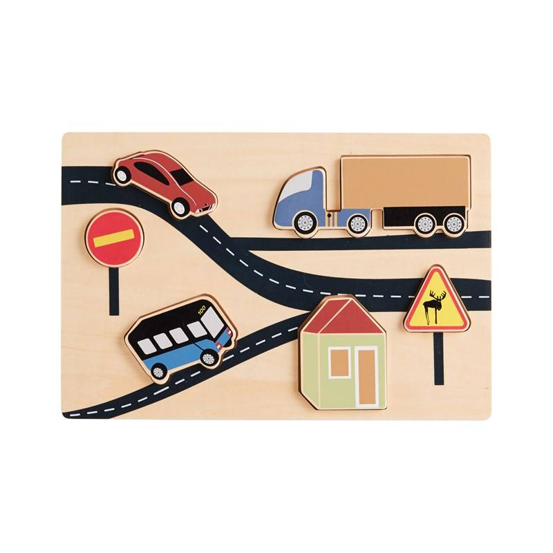 Kids Concept Puzzle, Traffic One Size