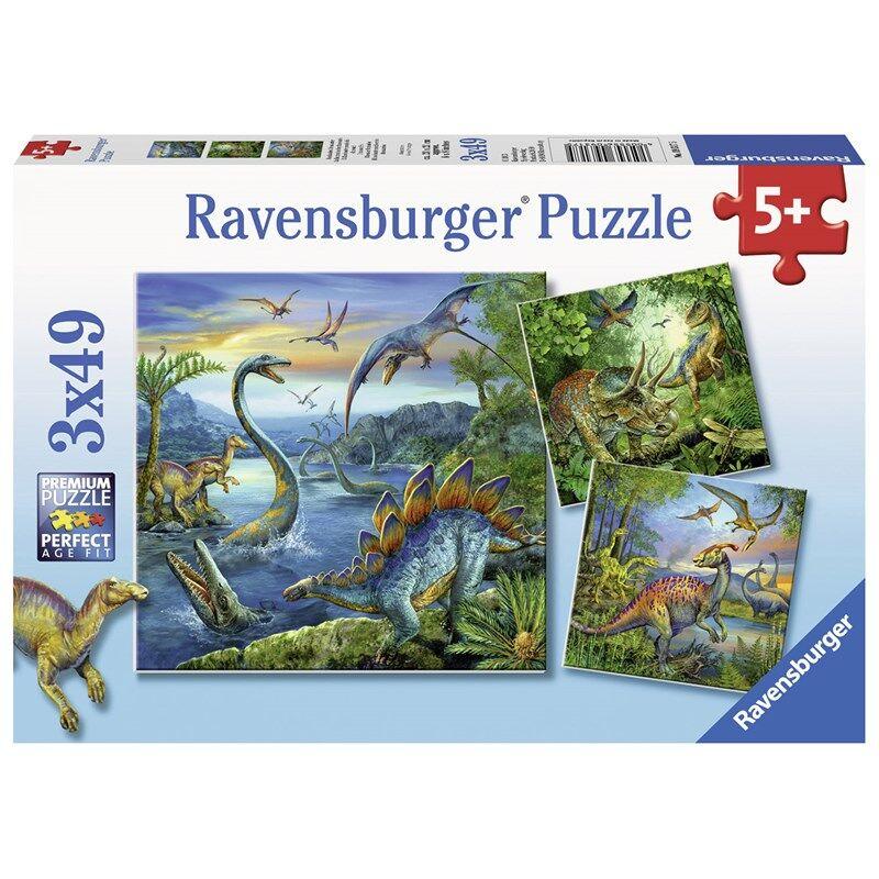 Ravensburger Puzzle, Dinosaur Fascination, 3x49p 3 - 7 år