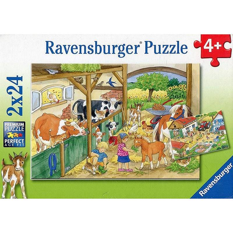Ravensburger Puzzle, A Day at the Farm - 2x24 pcs 4 - 9 years