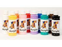 [NORDIC Brands] Akrylmalingsett ass farger 250ml (10)