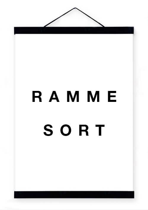 pictureit Rammelist - sort - 21cm (Passer til A4)