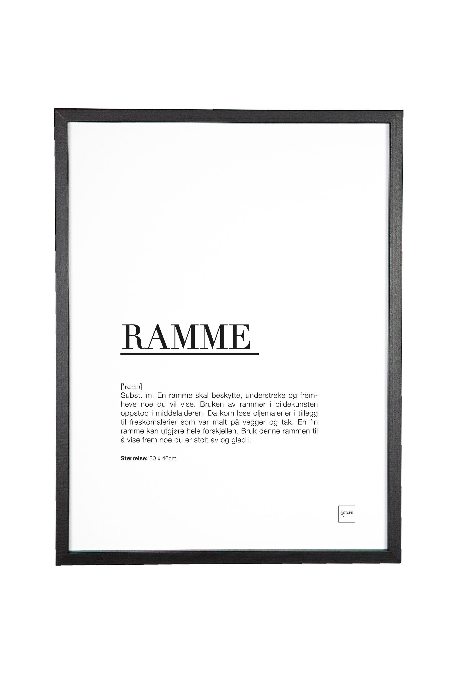 pictureit Ramme - matt sort - A4