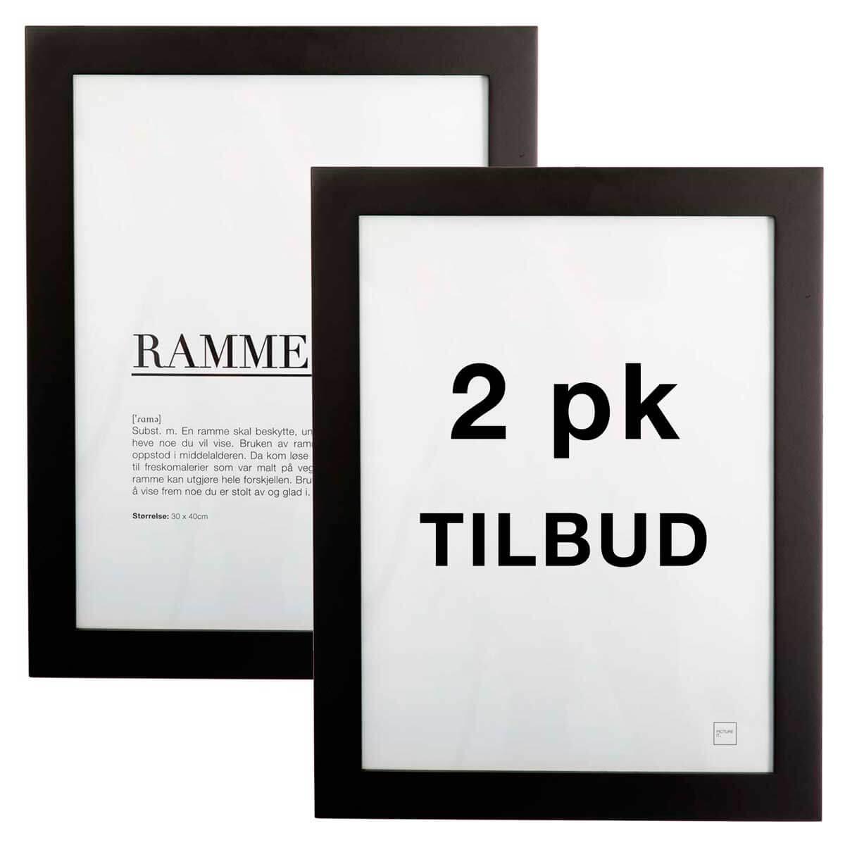 pictureit 2 pk rammer - sort - A4