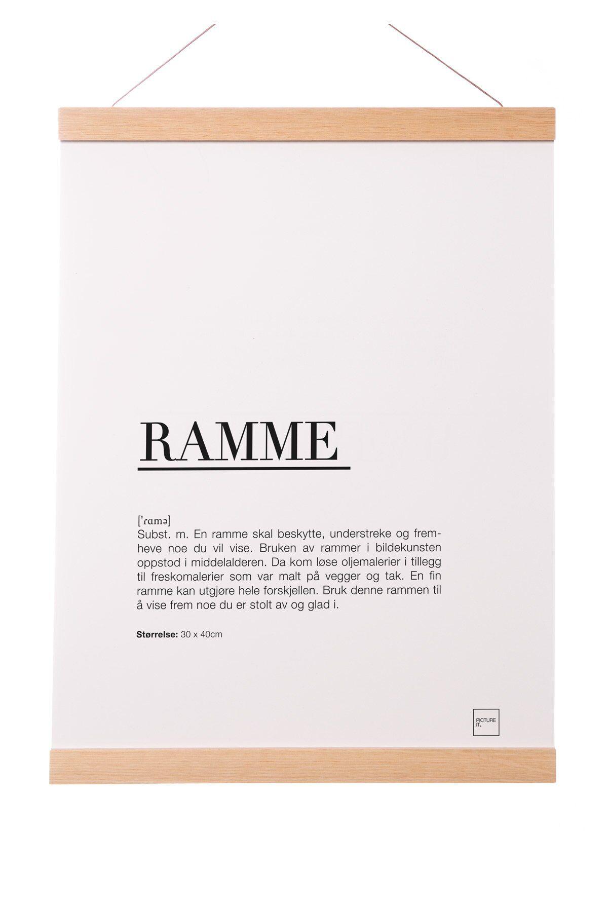 pictureit Rammelist i eik - 30cm (Passer til 30x40cm)