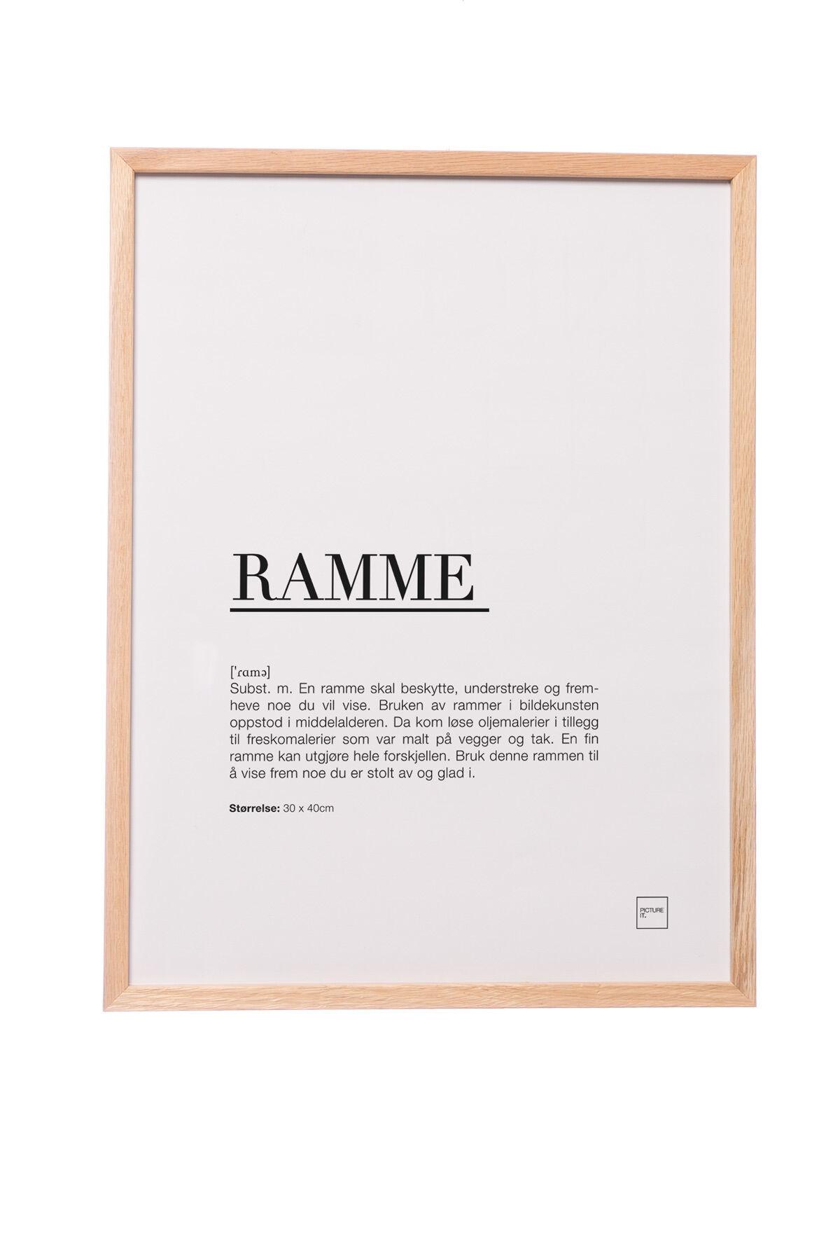 pictureit Ramme i eik - 50x70cm