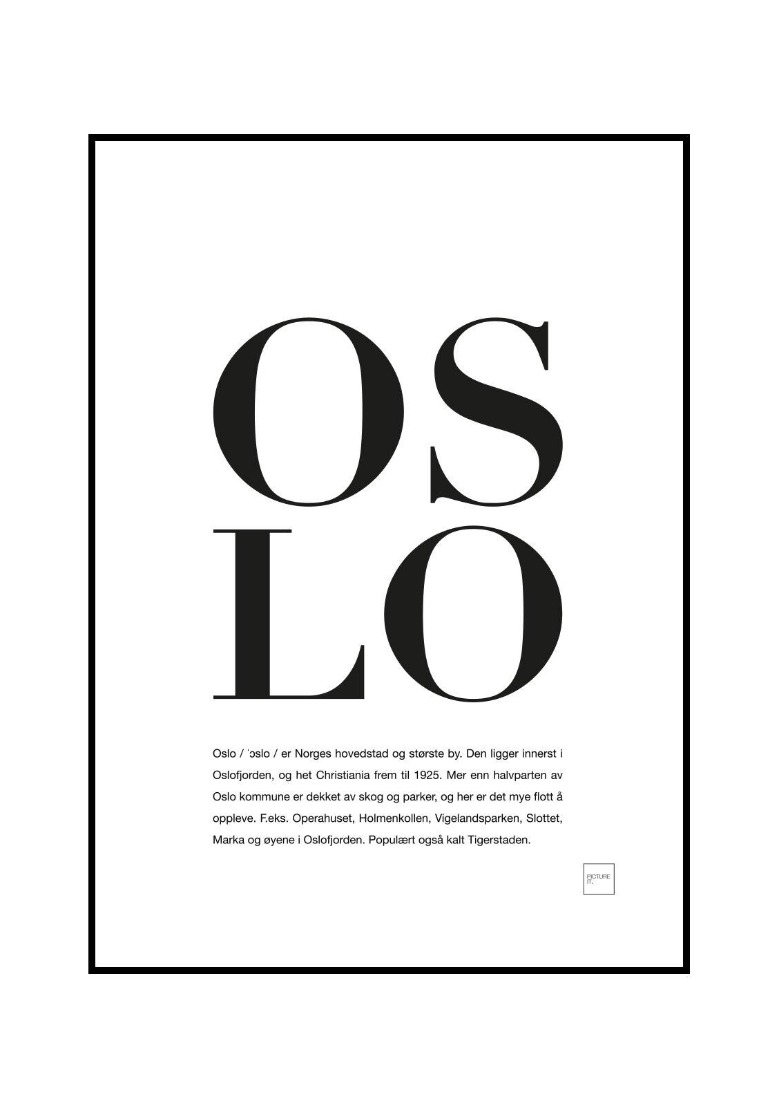 pictureit OSLO poster - 30x40cm